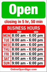 Business hours for Brown Bear Car Wash