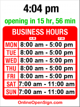 Business hours for Sports Medicine Clinic