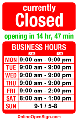 Business hours for Shakti Vinyasa Yoga