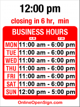 Business hours for Lucca