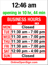 Business hours for Guitar Emporium