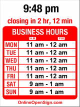 Business hours for Bad Albert's