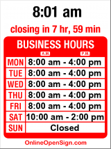 Business hours for Pavingstone Supply