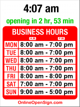 Business hours for U-Haul