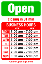 Business hours for Cash & Carry