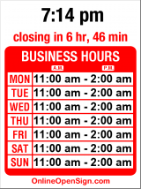 Business hours for Ballard Grill & Alehouse