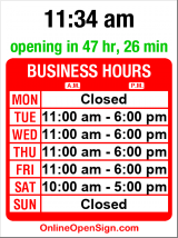 Business hours for Eastlake Hair