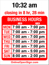 Business hours for Louisa's Bakery and Cafe
