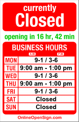 Business hours for Eastlake Chiropractic Center