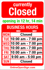 Business hours for Margi David Salon