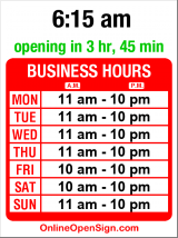 Business hours for Video Isle