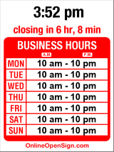 Business hours for Tamarind Tree