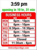 Business hours for Asian Resource Center
