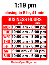 Business hours for Roadrunner Sports