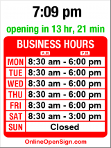 Business hours for Wedgwood Post Office