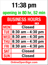Business hours for Wedgwood Dental Clinic