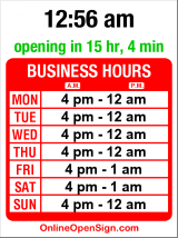 Business hours for Domino's Pizza