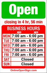 Business hours for Pinehurst Child Care Ctr