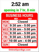 Business hours for Seattle Coin Shop