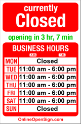 Business hours for Snow Goose Associates