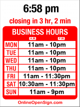 Business hours for La Casa Del Mojito