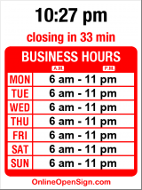 Business hours for Ken's Market