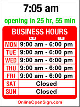 Business hours for Thomas & Thomas Euro Auto Svc