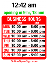 Business hours for Labels