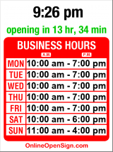 Business hours for Metropolis