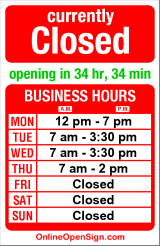 Business hours for Espresso Dental
