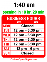 Business hours for Vineyard Wine Shop