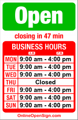 Business hours for Squirrel's Buy/Sell