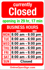 Business hours for Green Bean Coffee House