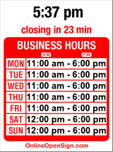 Business hours for Daily Planet Antiques