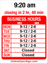 Business hours for Robert Rodolf DDS