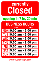 Business hours for Rudy's Barber Shop