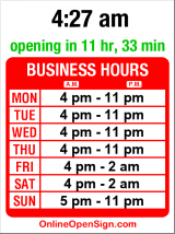 Business hours for Moon Temple Restaurant