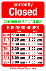 Business hours for Starbucks Wallingford