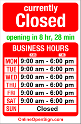 Business hours for Seattle Stained Glass