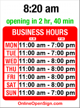 Business hours for Comics Dungeon