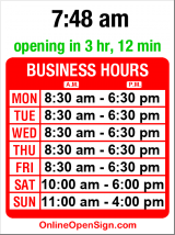 Business hours for The UPS Store