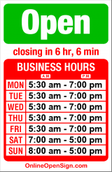 Business hours for Roosters Espresso