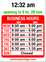 Business hours for Natco