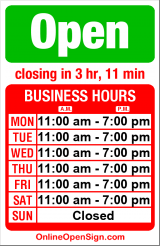 Business hours for Spin's Barber Shop