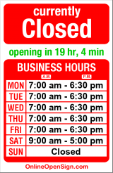 Business hours for Wallingford Dry Cleaners