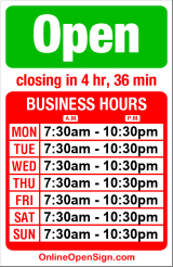 Business hours for Maytag Cleaning Center