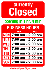 Business hours for Fremont Dock