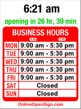 Business hours for AAA Mailing Service