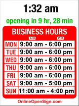 Business hours for Rockler Woodworking