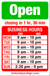 Business hours for New Red Sun Grocery